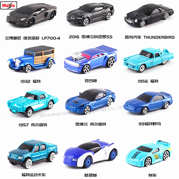 Maisto 1:64 Sports car 12 styles Challenger manufacturer authorized simulation alloy car model crafts decoration collection toy maisto 1 24 ford raptor manufacturer authorized simulation alloy car model crafts decoration collection toy tools