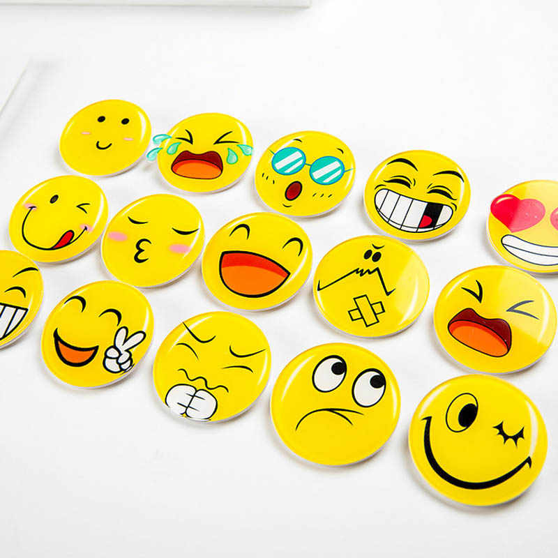 Sale 1PC QQ Emotion Badge Unisex Round Funny Face Brooch For Women Grils  Clothes Bag Decoration Acrylic Badge Ceremony