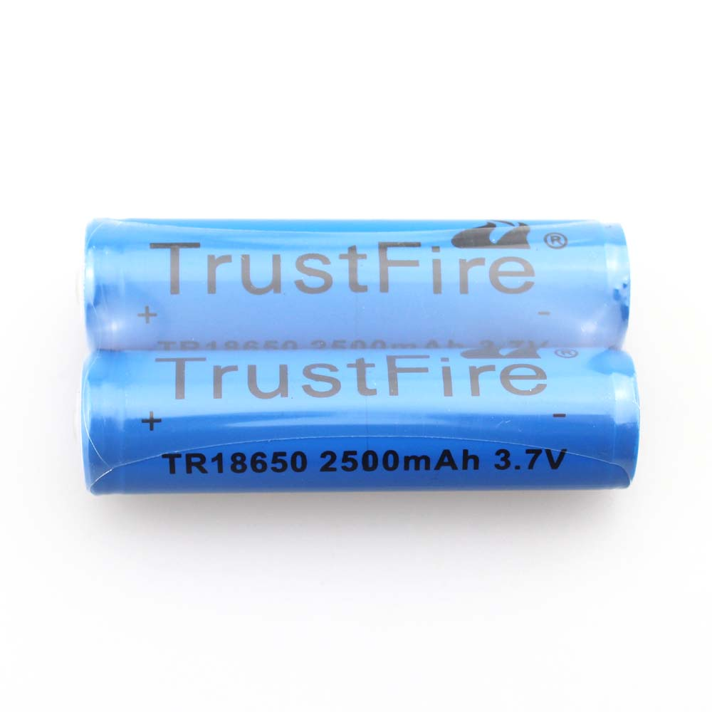 5pcs/lot TrustFire TR18650 3.7V 2500mAh Rechargeable Li-ion Battery with PCB Protection Power Source For LED Flashlight