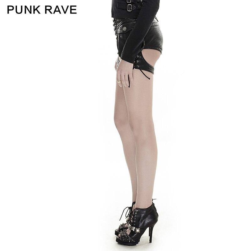 D'été En Cuir Shorts Dernière Rave Mode Sexy Vintage Punk Femmes Z0568qx