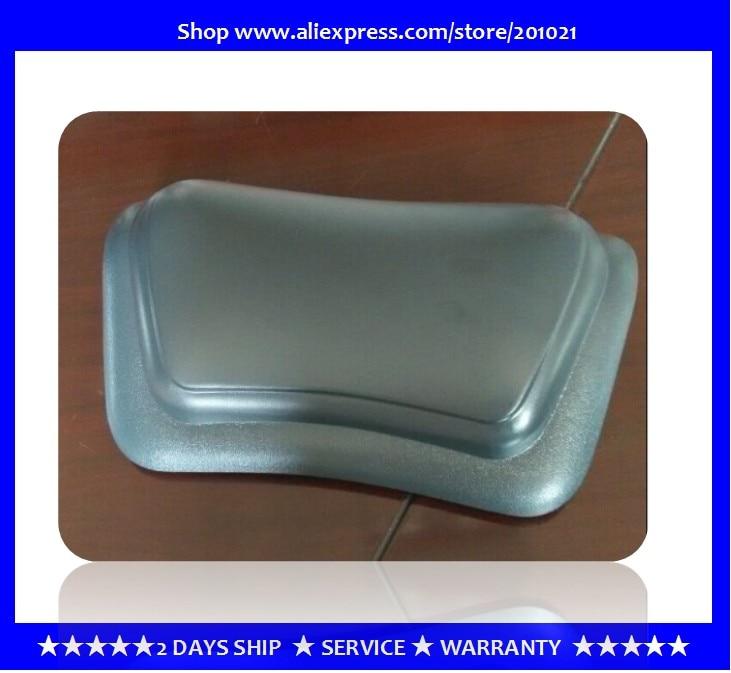 Wholesale cheapest <font><b>100</b></font>% PU Organic Foam Bath Headrest Pillow with strong suction <font><b>cups</b></font>,Dark <font><b>grey</b></font>