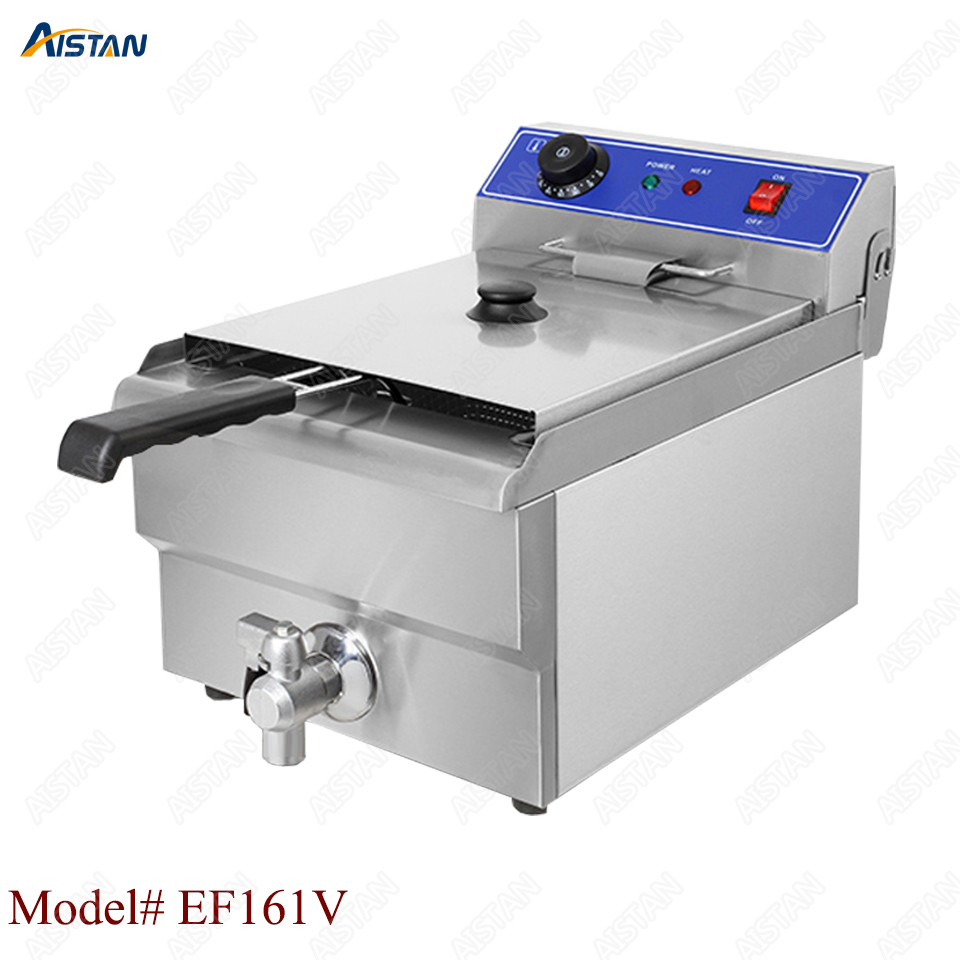 EF101V stainless steel electric deep fryer fried chicken fried potato chips for kitchen appliance 3