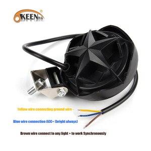 Image 4 - OKEEN 12V Car LED Work Light Bar 28W Motorcycle Bike Fog DRL Headlight 3200Lm High Low Beam Spotlight 6500K White Headlamp 24V