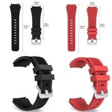 22mm vitesse s3 classique/frontière silicone bracelets montres bracelet en caoutchouc pour samsung gear s3 montre bandes classique bretelles bracelet