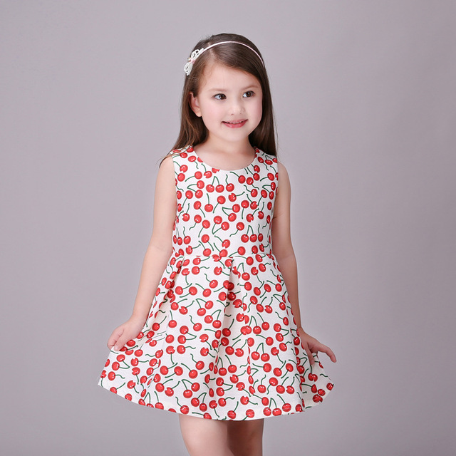 Aliexpress.com : Buy Red summer Girl Dress Princess Costume Cherry ...