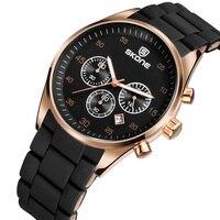 SKONE New 2018 Fashion Luxury Watch Men Silicone Band Calendar Erkek Saat Reloj Mujer Business Clock