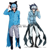 Servamp Sleepy Ash Kuro Vampire Black Cat Coat Jacket Pants Uniform Outfit Cosplay Costumes