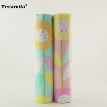 Teramila Cotton Fabric Light Pink And Blue Color Home Decoration 2 Pieces 40cmx50cm Quilting Meter Bedding Curtain Pillow