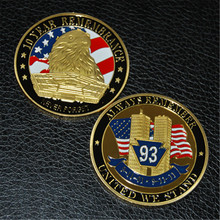 Free Shipping 50pcs/lot,9-11-10-Years of Remembrance Challenge Coin,Always Remember United We Stand 50pcs lot top258mg top258 dip 9 free shipping
