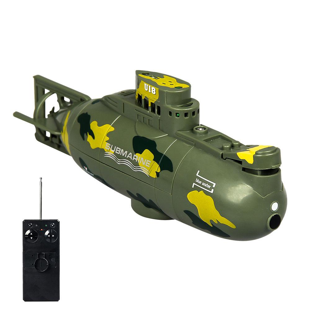 Image 2 - Mini Remote Control Simulation Submarine Model Camouflage RC Under Water Boat Submarine Bathtub Pools Toy Bath Toys for Kids-in RC Submarine from Toys & Hobbies