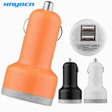 original dual USB car charger For iphone 4 5 6 samsung lenovo xiaomi mobile cell phone