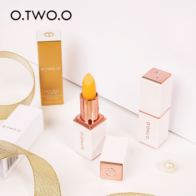 O.TWO.O Temperature Change Color Lip Balm Pink Hygienic Moisturizing Nutritious Jelly Lipstick Anti Aging Makeup Lip Care 4
