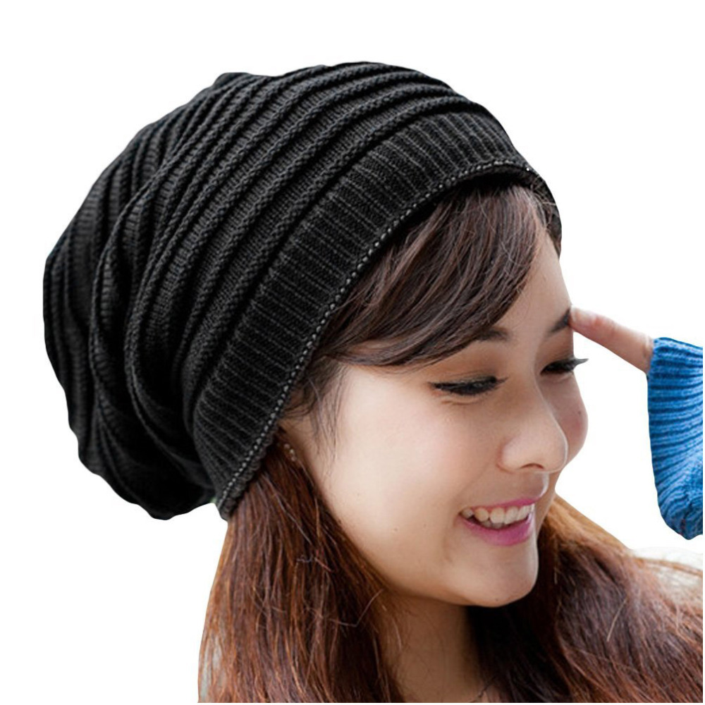 Men women unisex girl mix color striped stripes pattern slouchy men women unisex girl mix color striped stripes pattern slouchy knit beret beanie crochet rib hat cap warm in skullies beanies from womens clothing bankloansurffo Images