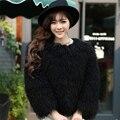 New Arrival Hot Sale Women Winter Fur Coat/Mongolian Lamb Real Fur Women Coats Russia
