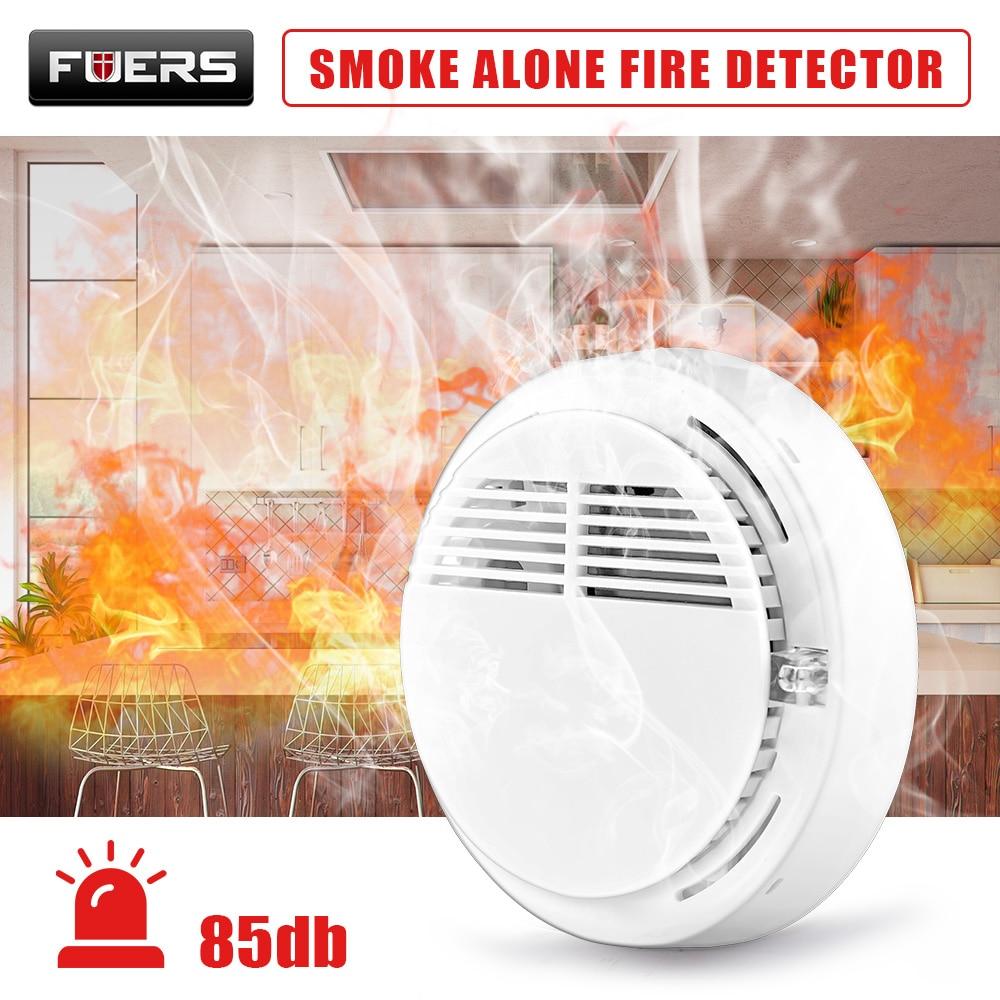 85dB Voice Independent Smoke Detector Portable High Sensitive Stable Fire Alarm Alone Sensor Alarm Wireless Home Smoke Sensor