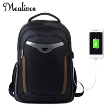 Mealivos Anti-theft Water Resistant Laptop Backpack With USB Charging Port Lightweight School College Bag Rucksack Fits 18-inch coolbell 15 6 inch laptop backpack travel bag with usb charging port multi functional business rucksack bags water resistant ff