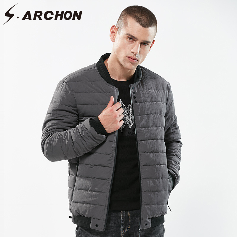 S.ARCHON Winter Windproof Warm Air Force Pilot Parka Men Thick Cotton Padded Aviator Jacket Male Casual Slim Fit Outerwear Coats