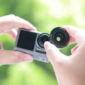 Image 3 - ULANZI OA 5 Macro Lens OA 6 Fisheye Lens voor DJI Osmo Action Optische Glazen Lens Alluminum Lichtmetalen Lens Osmo Action Accessoires