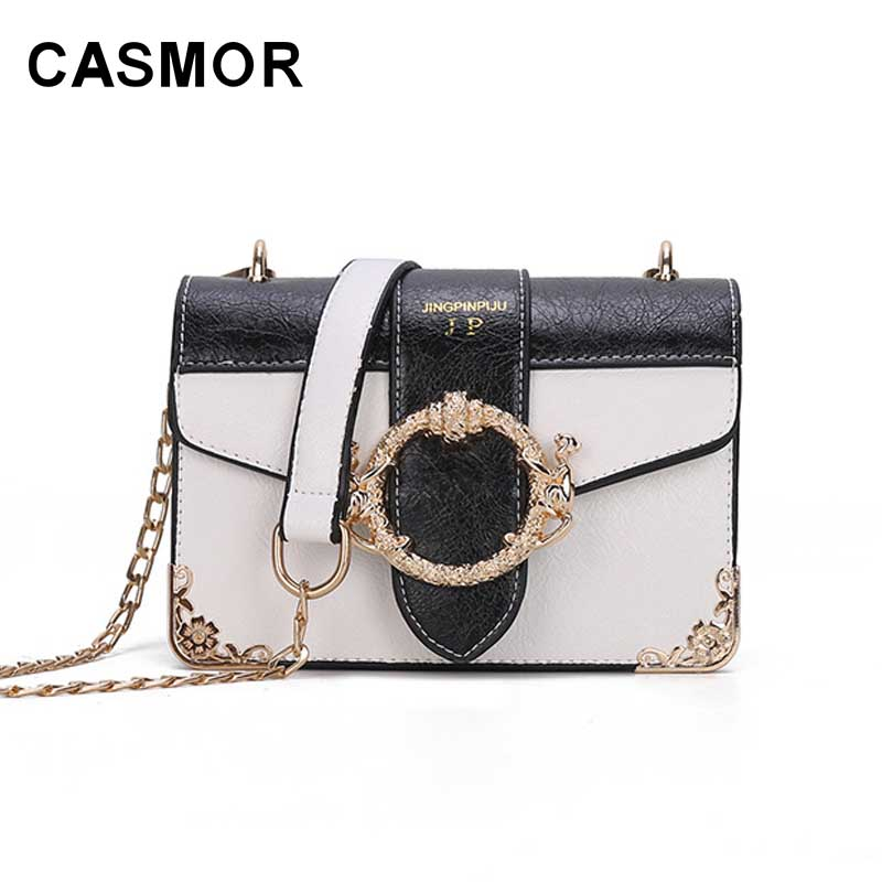 CASMOR Famous Brand Women Shoulder bag For Ladies Fashion Designer Luxury Crossbody bags PU Leather Mini Messenger bags Wallet