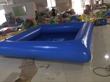 Фотография inflatable pool outdoor large swimming pool size 3.5*3.5*0.6  M summer water game suitable for kids &children