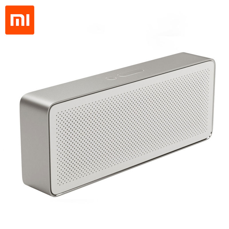 Original Xiaomi Bluetooth Square Box Speaker 2 1200mAh AUX Line-in Hands-free Wireless Bluetooth V4.2 Speaker With Mic ecandy bluetooth speaker 6 hours of playing time built in mic for hands free speakerphone rechargeable wireless speaker aux line in
