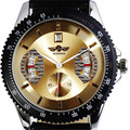 2016 Top Luxury Brand WINNER Watch Men Automatic Mechanical Leather Strap Date Calendar Sports Male Wristwatch Relogio Masculino