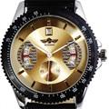 2016 Top de Luxo Da Marca VENCEDOR Homens Relógio Mecânico Automático Pulseira De Couro Calendário Data Sports relógio de Pulso Masculino Relogio masculino
