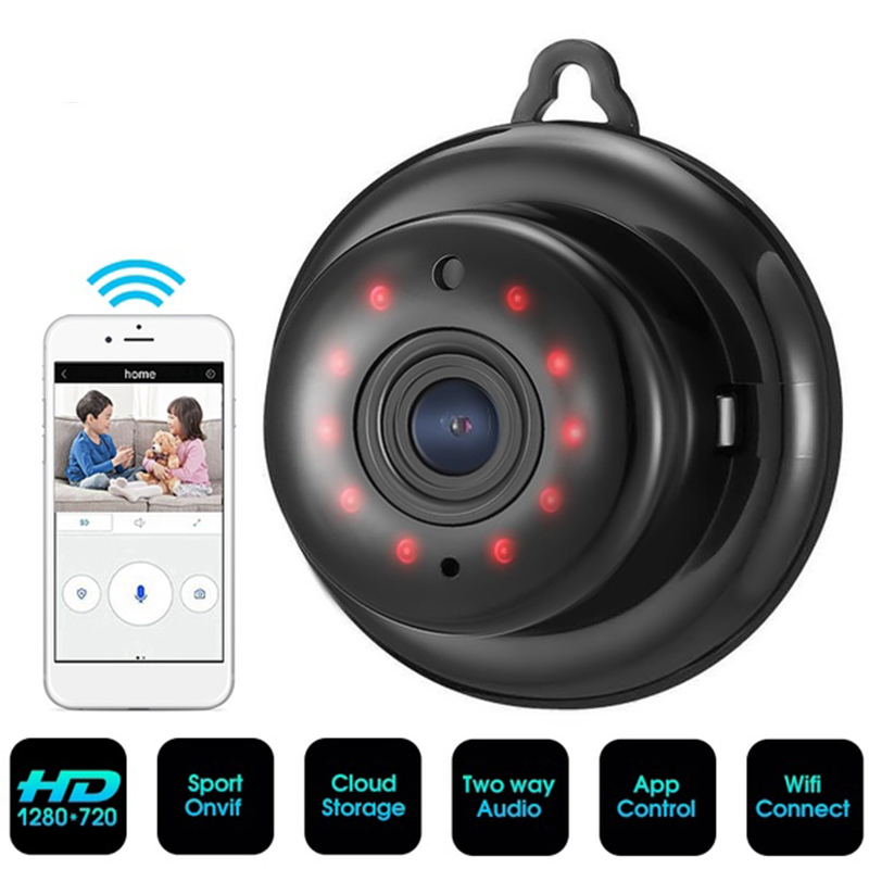 HD 720P WIFI Mini Wireless IP Camera Night Vision Mini Camcorders Kits for Home Security CCTV Camera-in Mini Camcorders from Consumer Electronics