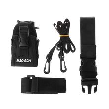 MSC-20A Portable Nylon Interphone Sheath Walkie Talkie Holder Radio Case with Adjustable Strap for Multiple Interphones