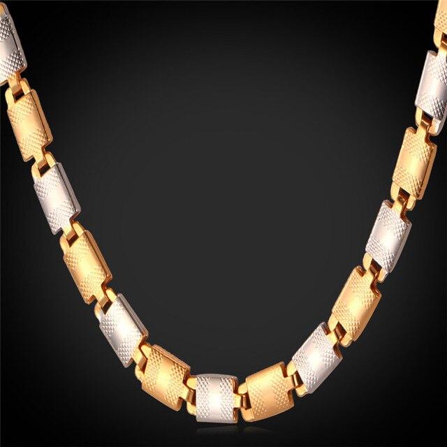 Men Jewelry Chain Choker Necklace Unisex Punk Fashion Jewelry Gold