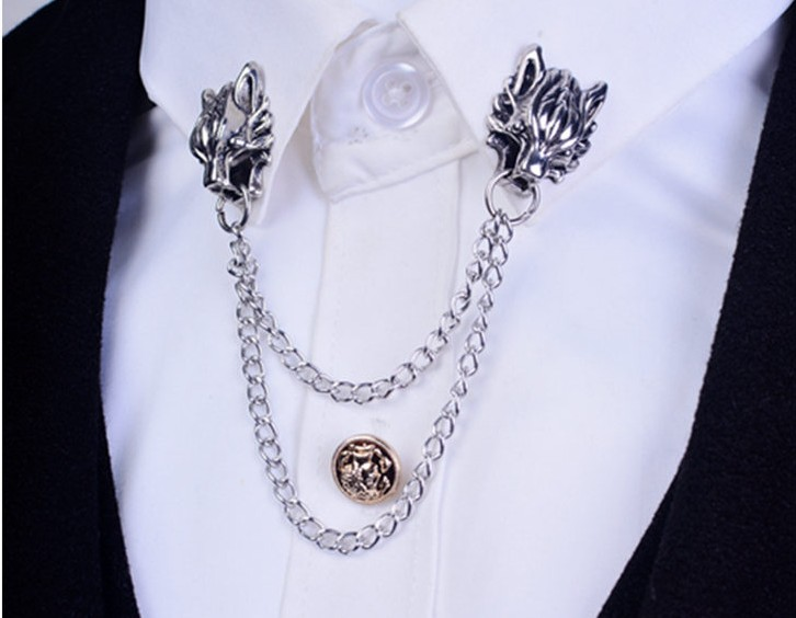 a broach men and of store cross market en brooch the cuffsmania with pin rakuten global double chain lapel emblem item