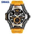 Neue SMAEL Herren Uhren LED Analog Quarz Uhr Männer Army Military Sport Uhren herren Wasserdichte Digitale S Schock Uhr männlichen Uhr|Quarz-Uhren|   -