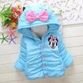 Chaqueta de los niños de dibujos animados minnie Cashmere gruesa Chaqueta de Abrigo de Invierno bebé bebé Niños Chaqueta Abajo Para La Muchacha niños chaqueta de los muchachos