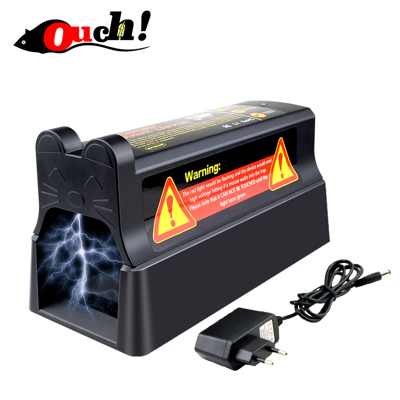 Ouch electronic mousetrap with EU plug adapter professional high voltage effective and powerful killer for rat