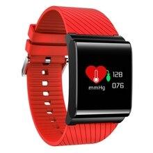 Smart Браслет крови кислородом Давление сердечного ритма Мониторы 0.95 »Сенсорный экран Водонепроницаемый Smart запястье push сообщение браслет