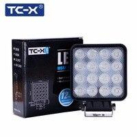 TC-X כיכר אור עבודת LED 48 W LED מבול אור בר Offroad 4x4 לאמפה דה וייסורים מתסכל SUV משאית DC 12 24 V LED עבודת מנורה 48 W