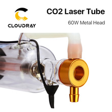 Cloudray 60W Co2 Laser Tube Length 1250mm Diameter 55mm Upgraded Metal Head Glass Pipe for CO2 Laser Engraving Cutting Machine
