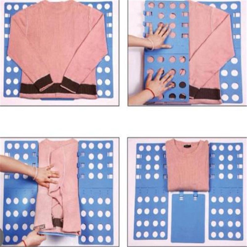 Creative Clothes T Shirt Top Folder Magic Flip Folding Board for Children Organizer Lazy Supplies Random Color Laundry 1