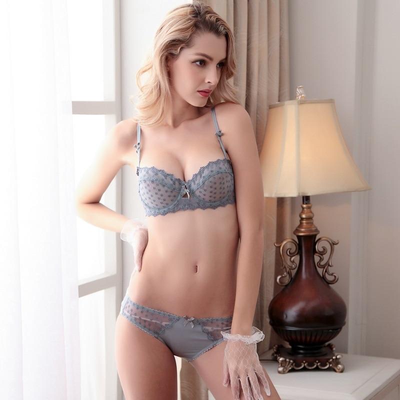 exclusive range best quality 60% clearance US $16.8 |Plus Size underwear Woman sexy bra set 85 90 95 B C D Cpu  lingerie bra lace vs secret bralette transparent bra panty set SW1210-in  Bra & ...