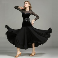 ballroom dance dress standard ballroom dress dance wear spanish flamenco dress fringe red modern dance costumes waltz dress