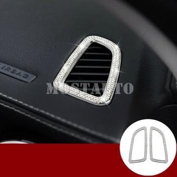 Couvercles De Sortie En Métal | Pour Benz GLC X205 X253 Style Strass Tableau De Bord évent Couverture De Sortie 2015-2018 2 Pièces