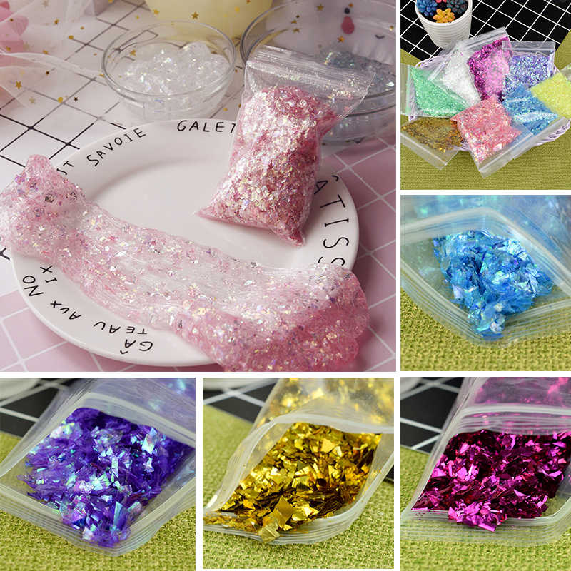 Slime Sprinkles Filler Toy Shiny Glitter Sequins Sparkling Slime Accessories Stress Relief Plasticine A101 Kids Toys Slime Decor