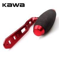 Kawa manivela para carretel  tamanho do furo duplo 8*5mm  110mm comprimento vermelho preto cor dourada