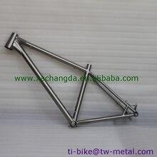 Толстая велосипедная Рама из титана с конической головкой, изготовленная на заказ титановая велосипедная Рама с торможением, дешевая рамка ti из Китая