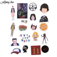sticker motorcycle Flyingbee 66 pcs Stranger Things Sticker Anime Stickers for DIY Luggage Laptop Skateboard Car Motorcycle Bicycle Stickers X0005 (4)
