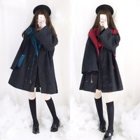 Magic Academy Series Women's BF Wide Trench Winter Outwear Witch Style Cape Uniform Coat Autumn COOL 4 Colors 2019 NEW