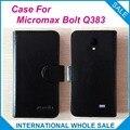 Горячая! Micromax Bolt Q383 Случае Телефон, 6 цвета Высокое Качество Кожи Эксклюзивный Случай Micromax Bolt Q383 Крышка Телефон Отслеживания
