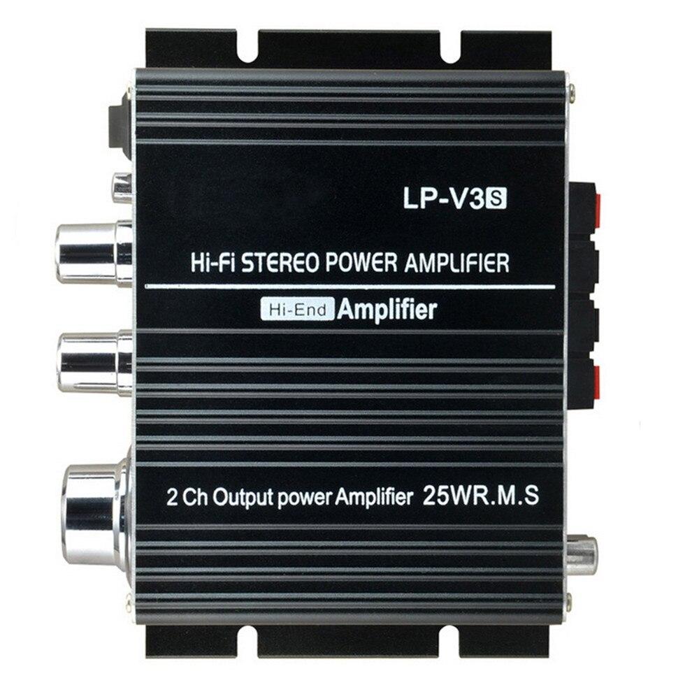 2018 New Black 3.5mm Car Audio Speaker 12V Mini Digital MP3 Hi-Fi LP-V3 Amplifier Stereo Connection 700W Power Songs Track