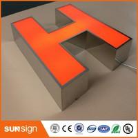 Свет письмо главе знак 3D подсветкой акриловые письмо знак