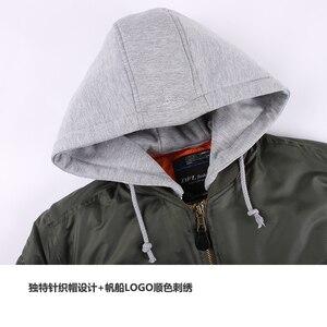 Image 5 - 2019 ฤดูหนาวขนาดใหญ่ MA 1 hooded streetwear hip hop กองทัพทหารเสื้อโค้ทเสื้อผ้า BOMBER Flight AIR FORCE นักบินชายเสื้อ